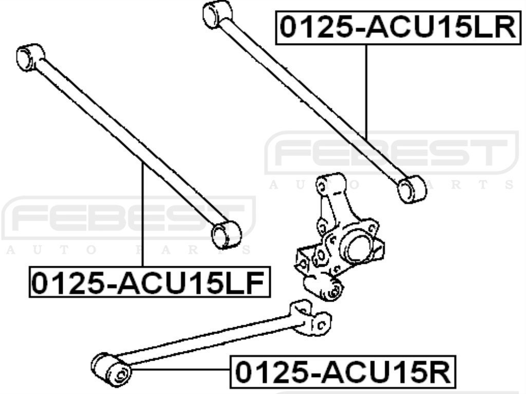 Oem Toyota Rear Track Control Rod Febest 48710-48020