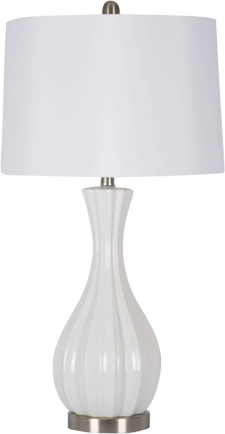 "Sagebrook Home 50150-03 Ceramic Table, White, 29"" Lamps"