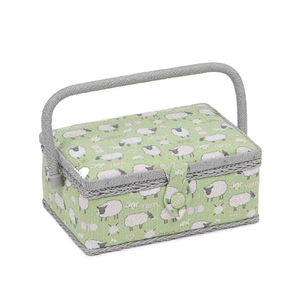 Sewing Basket MRSRF\438 Sheep Small Rectangle Sewing Box