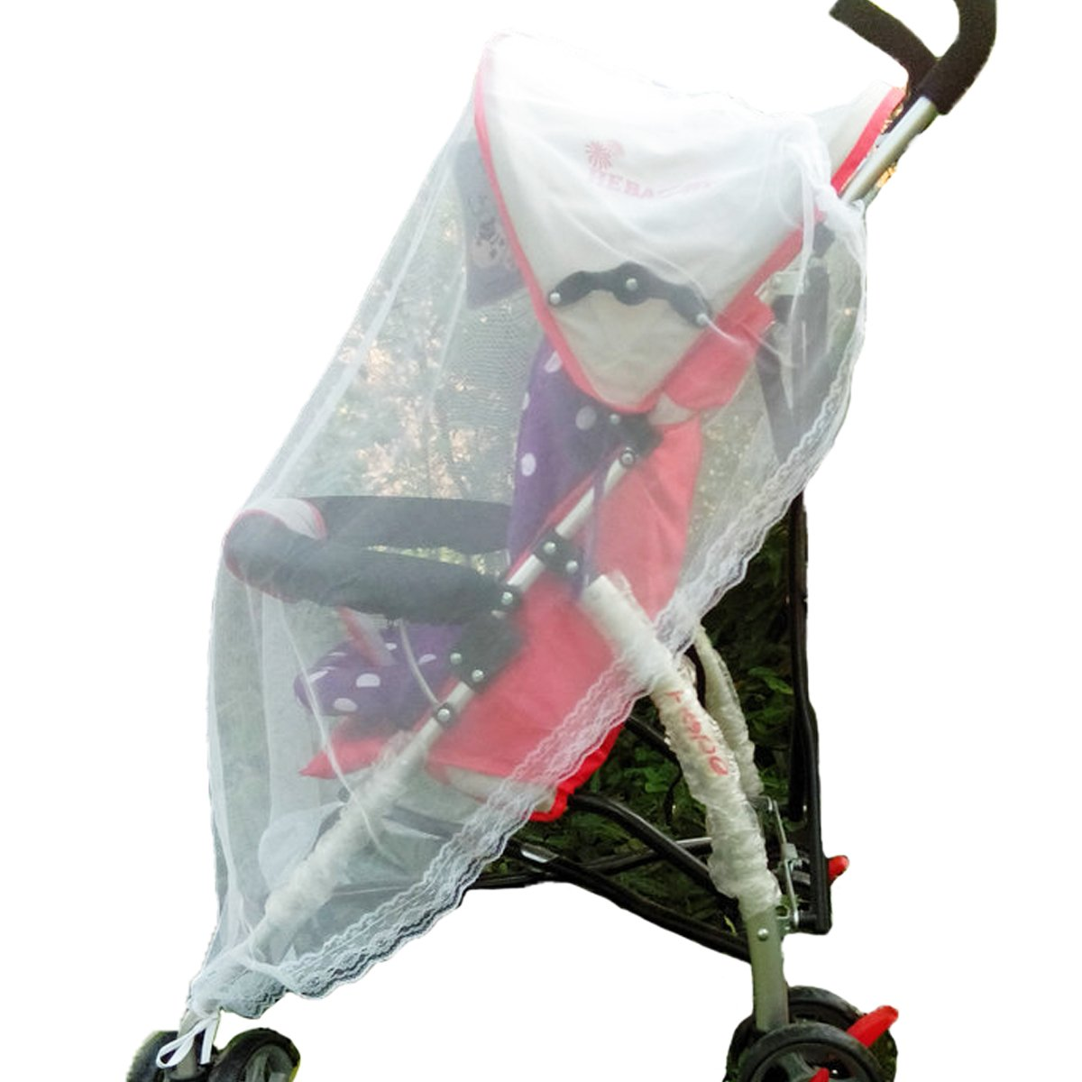 Baby Mosquito Net for Strollers, Carriers, Car Seats, Cradles. Fits Most PacknPlays, Cribs, Bassinets & Playpens. 39 x 43 inch, Made of White, Portable & Durable Baby Insect Netting (White) Aunavey