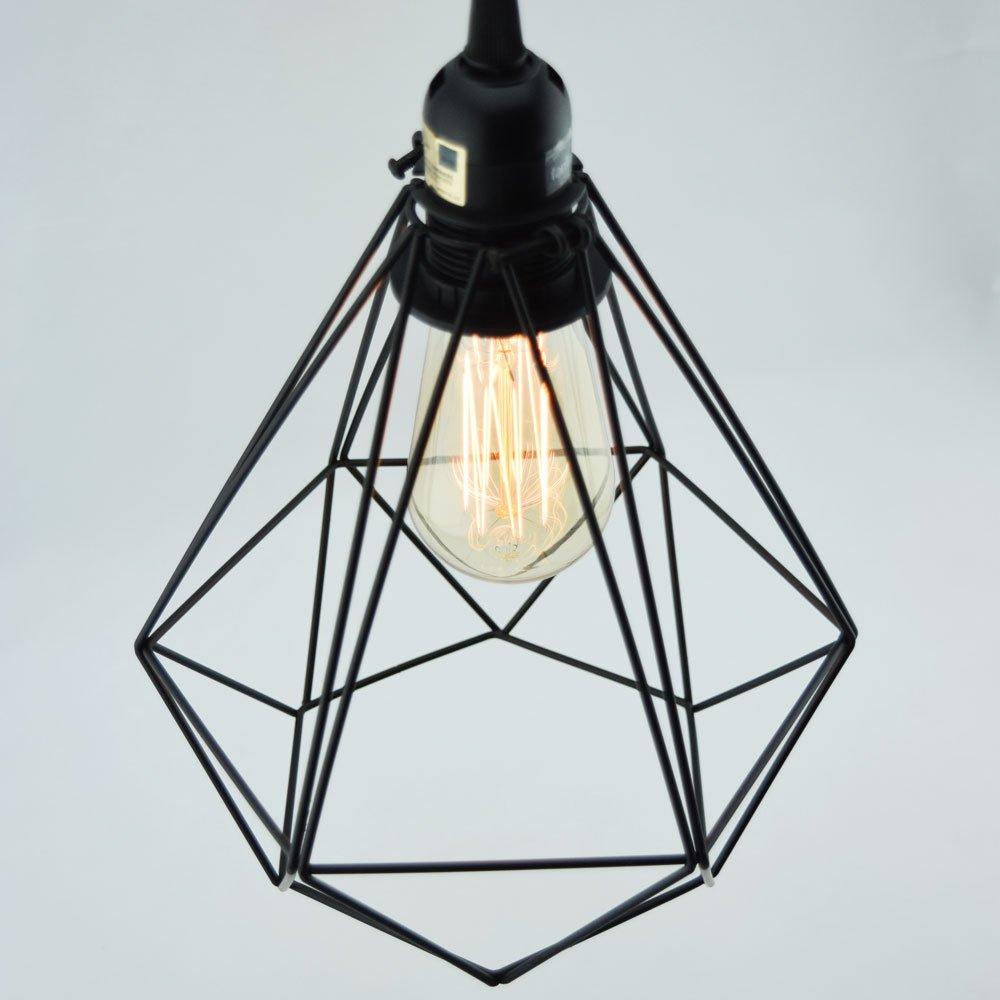 amazoncom fantado geometric diamond vintage edison light bulb cage for pendant lights by cage only home u0026 kitchen