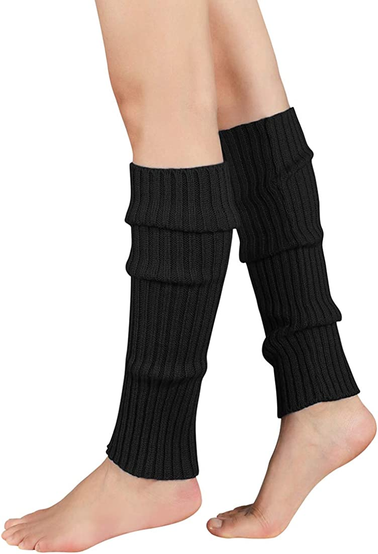Durio 80s Leg Warmers Ribbed Knit Neon Leg Warmers for Women 80s Costume for Party