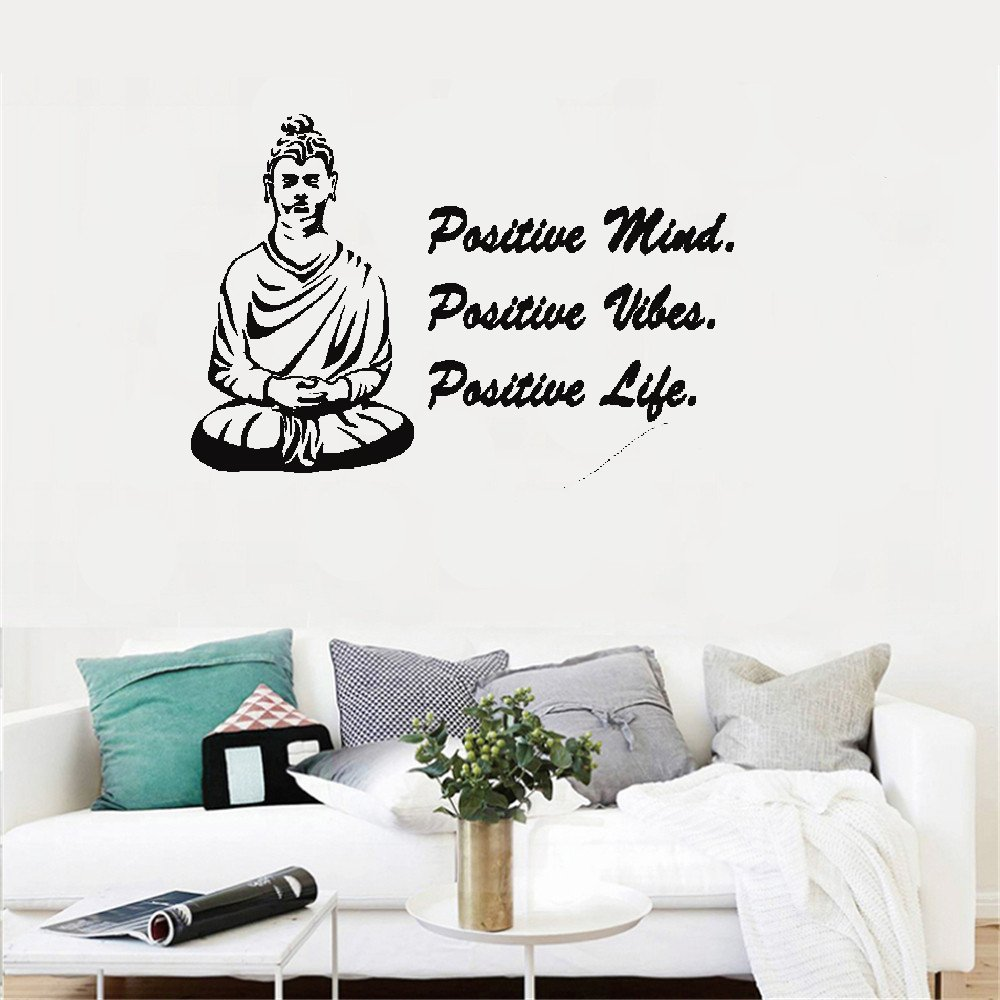 ulait Motivational wall sticker quotes Buddah Positive mind positive vibes positive life