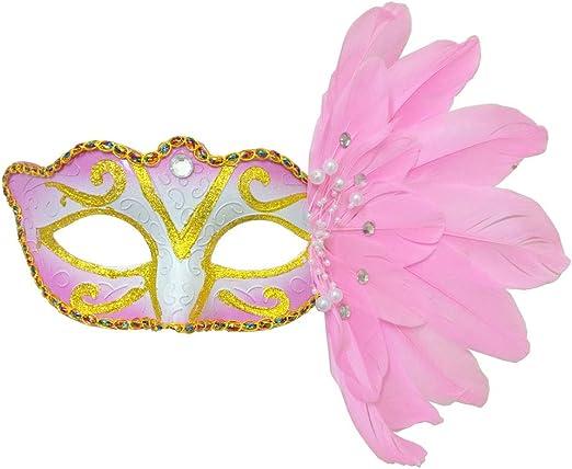 Countonme Disfraz Veneciano de Halloween para Mujer, máscara de ...