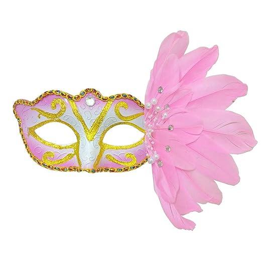 Countonme Disfraz Veneciano de Halloween para Mujer, máscara ...