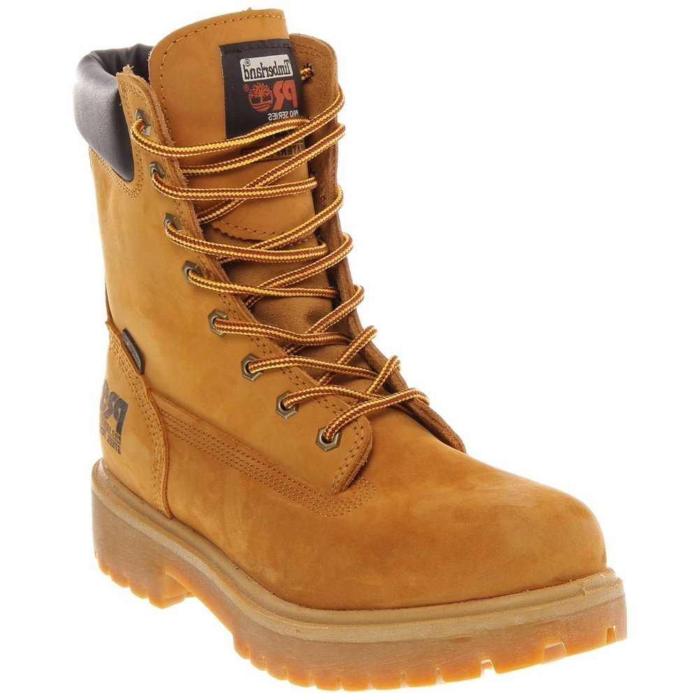 Timberland - Timberland 26002 PRO 8-Inch Waterproof Steel Toe Wheat Men's Boot - 26002 - 9.5 W (Wide)