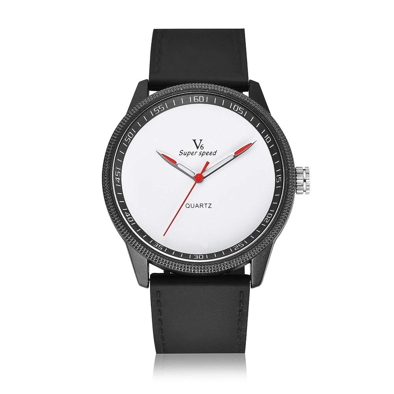 v6メンズファッションカジュアルスタイルQuartz Movementシリコンストラップ腕時計 B06Y62GM7R