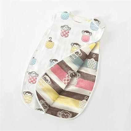Bolsa de dormir para bebés Verano sin mangas Ultra finas para recién nacidos Algodón suave transpirable