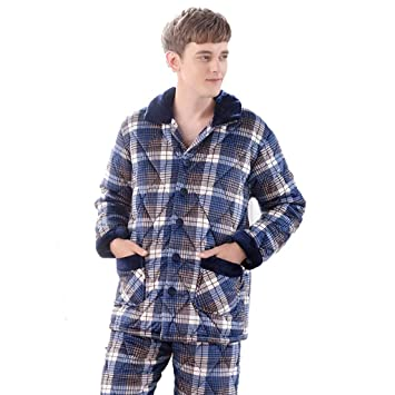 3d36249248 Pyjama Sets Pajamas Men s Pajamas Autumn and Winter Quilted Pajamas ...