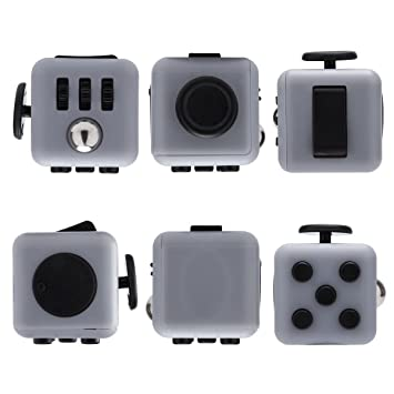 Bifstore Fidget Cube Relieves Stress And Anxiety For Children Adults Attention Toy Gray