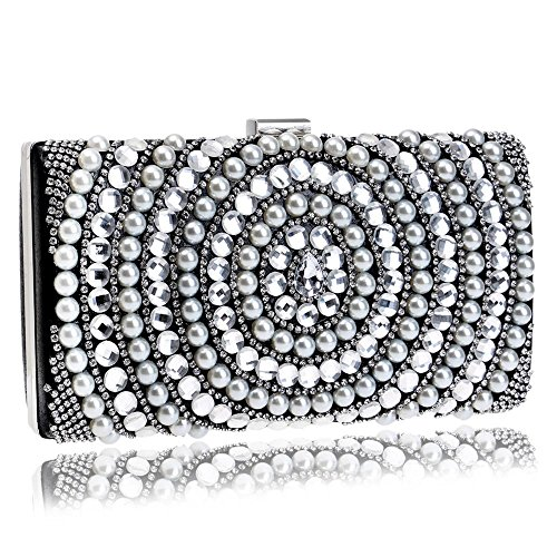 Sacs Main Messenger KYS Sacs Candy Perles Mariage black Color de à de à soirée Sac bandoulière Diamants Women tHS7H