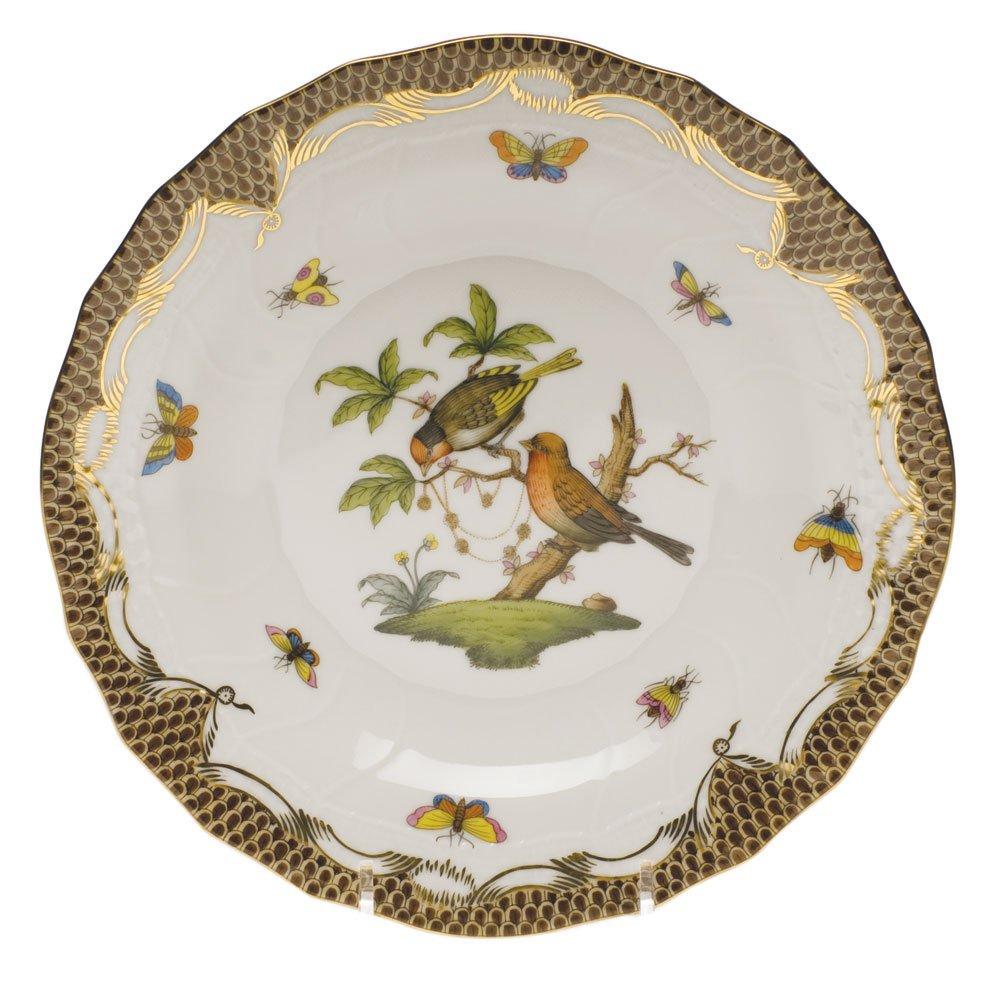 ヘレンドのRothschild鳥ブラウンデザートプレートモチーフ# 10   B003JTZNM4