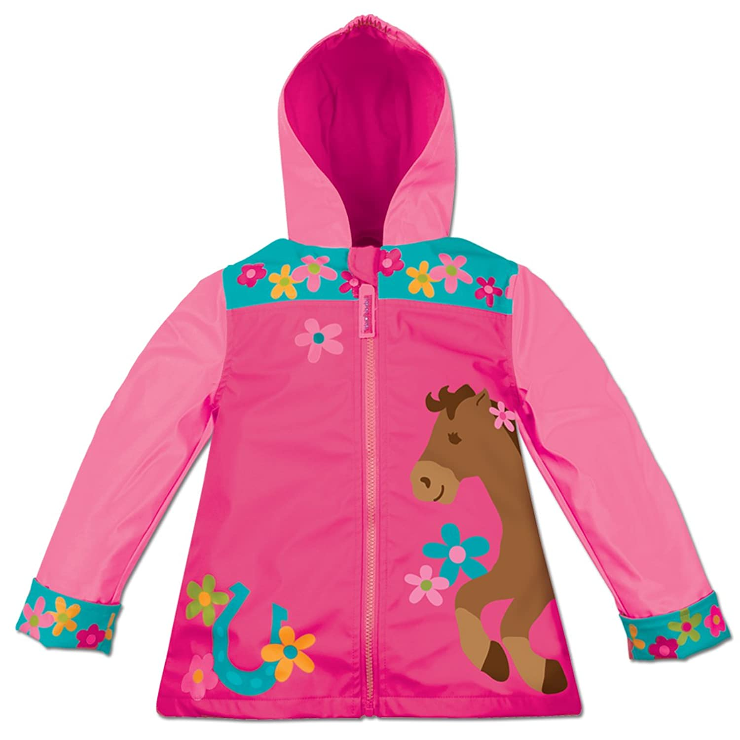 Amazon.com: Stephen Joseph Girls Horse Rain Coat: Rain Jackets