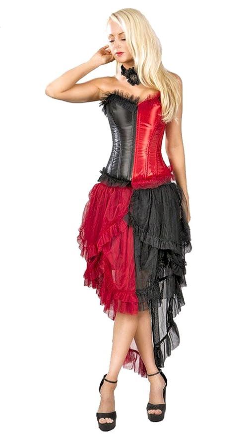 SteampunkClothing  Steampunk Harlequin Corset and Skirt Set $39.99 AT vintagedancer.com