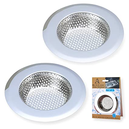 A AULIFE Stainless Steel Kitchen Sink Strainer, Large Wide Rim 4.5 ...