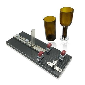 Madera herramienta de corte cortador de botella de vidrio, botellas de vino gotiteni para lámpara