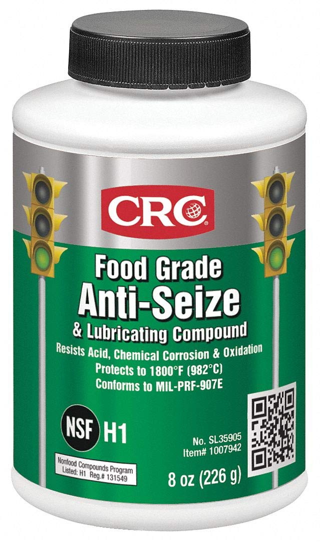CRC Food Grade Anti-Seize & Lubricating Compound, 8 Wt Oz, SL35905