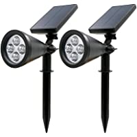 2-Pk. Rusee Solar Spotlight Outdoor Lighting