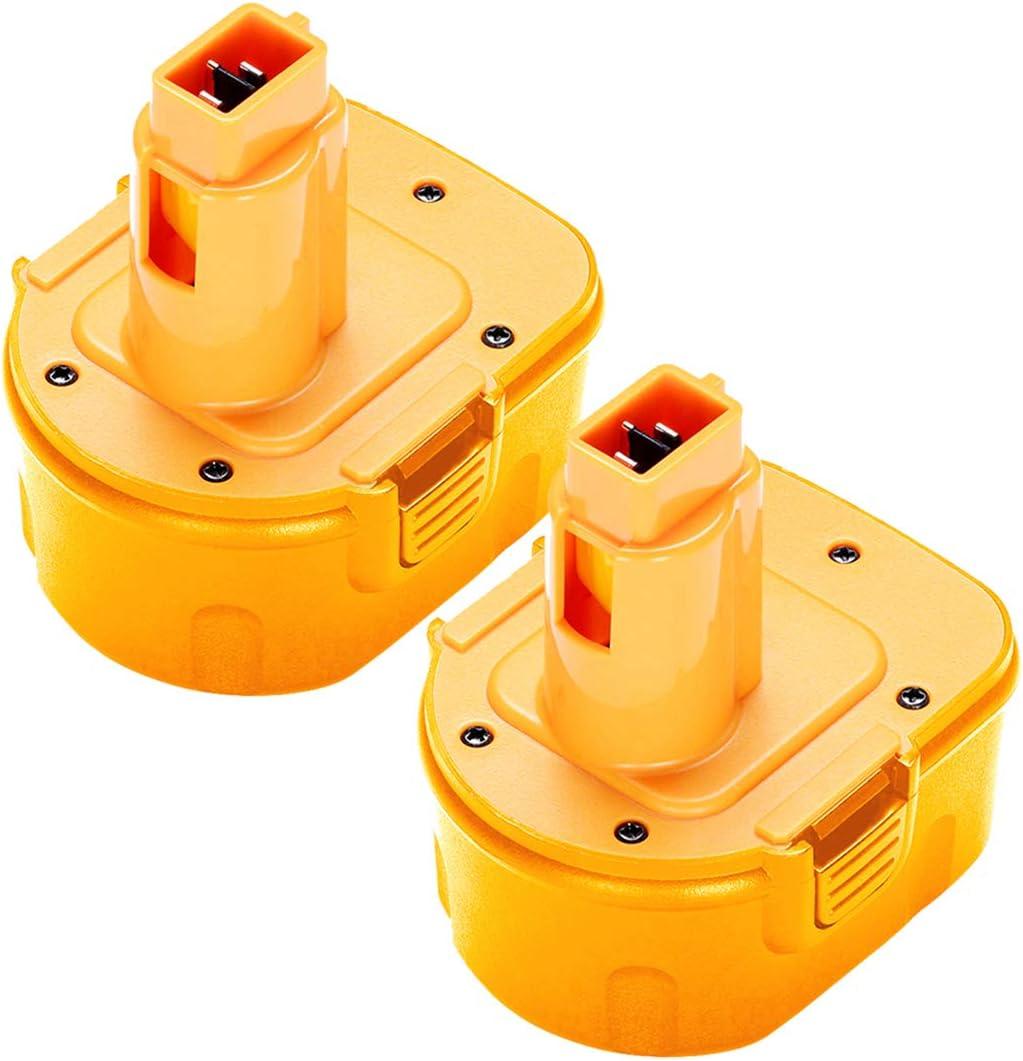 2Pack 12V 3.6Ah DW9071 Replacement for DeWalt 12V XRP Battery DW9071 DC9072 DE9037 DE9071 DE9072 DE9074 DE9075 Compatible with DeWalt 12-Volt Ni-Hh Batteries