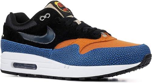 air max 1 blue orange black