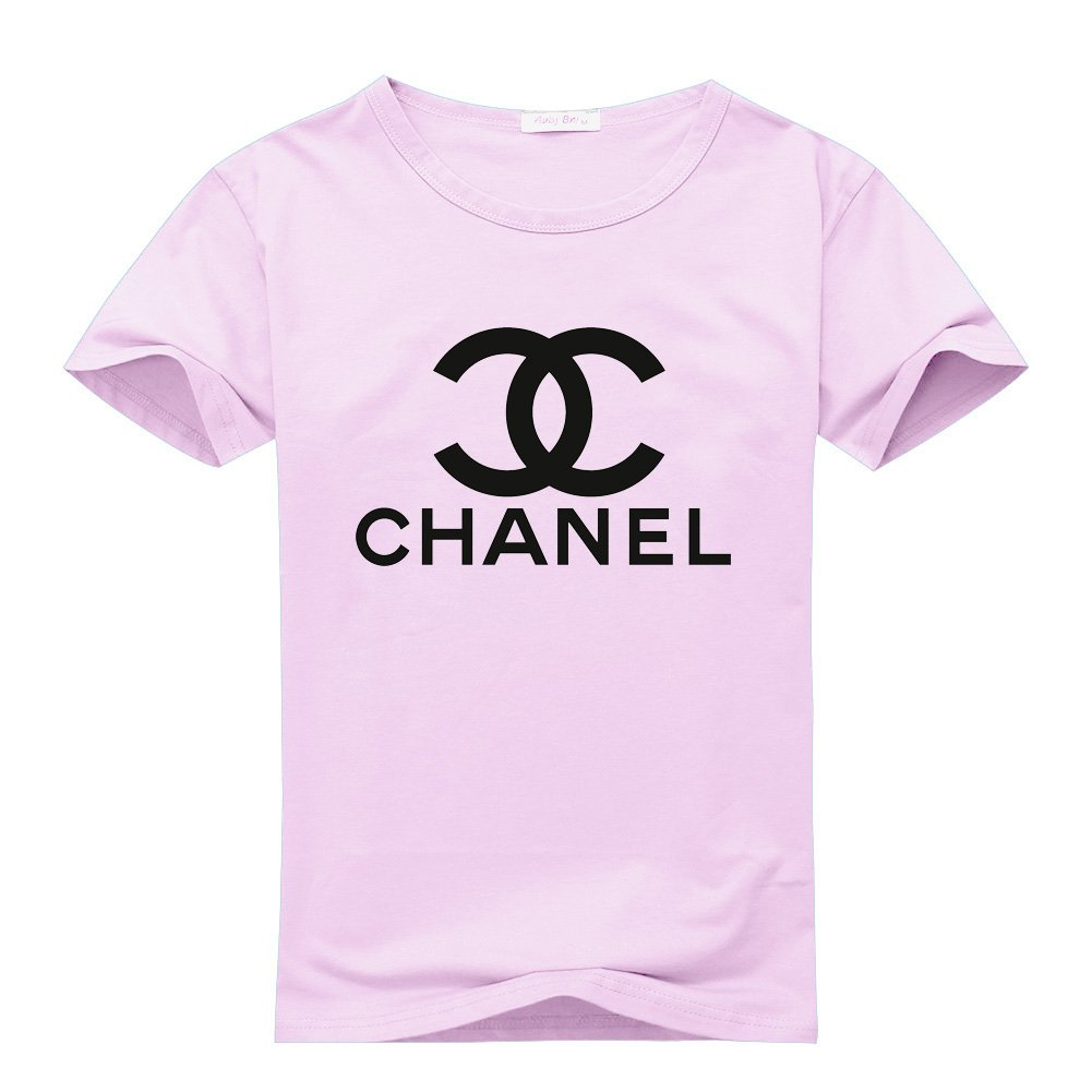 the best attitude df155 c3378 New Chanel Logo for 2016 Womens Printed Short Sleeve Tops t Shirts