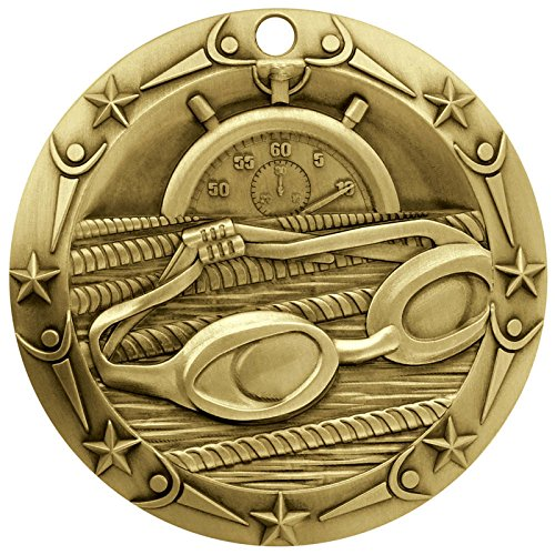 Gold WORLD CLASS SWIMMING MEDAL - 3
