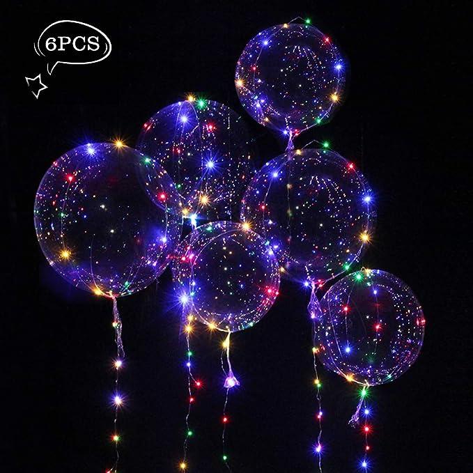 Globos de 18 pulgadas con LED muticolores, Innovadores Globos Románticos.