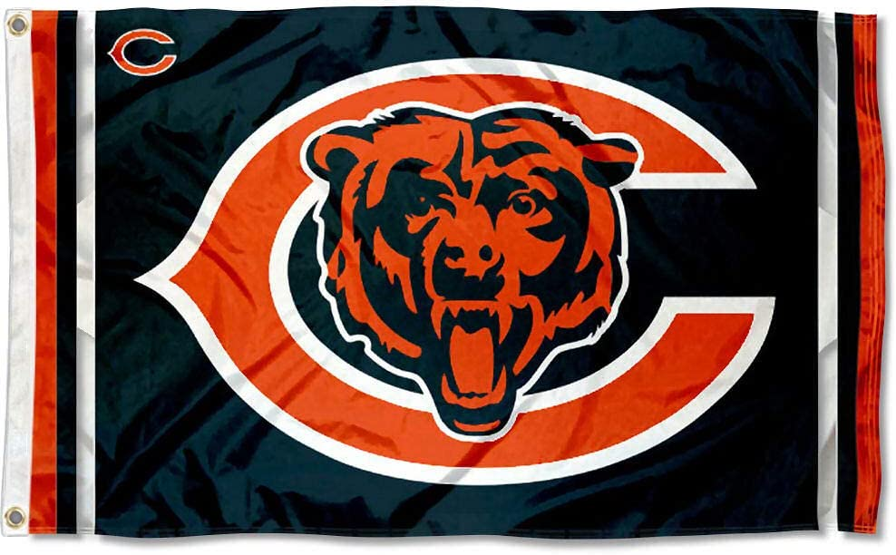 Amazon Com Wincraft Chicago Bears Logos Flag And Banner Sports Outdoors