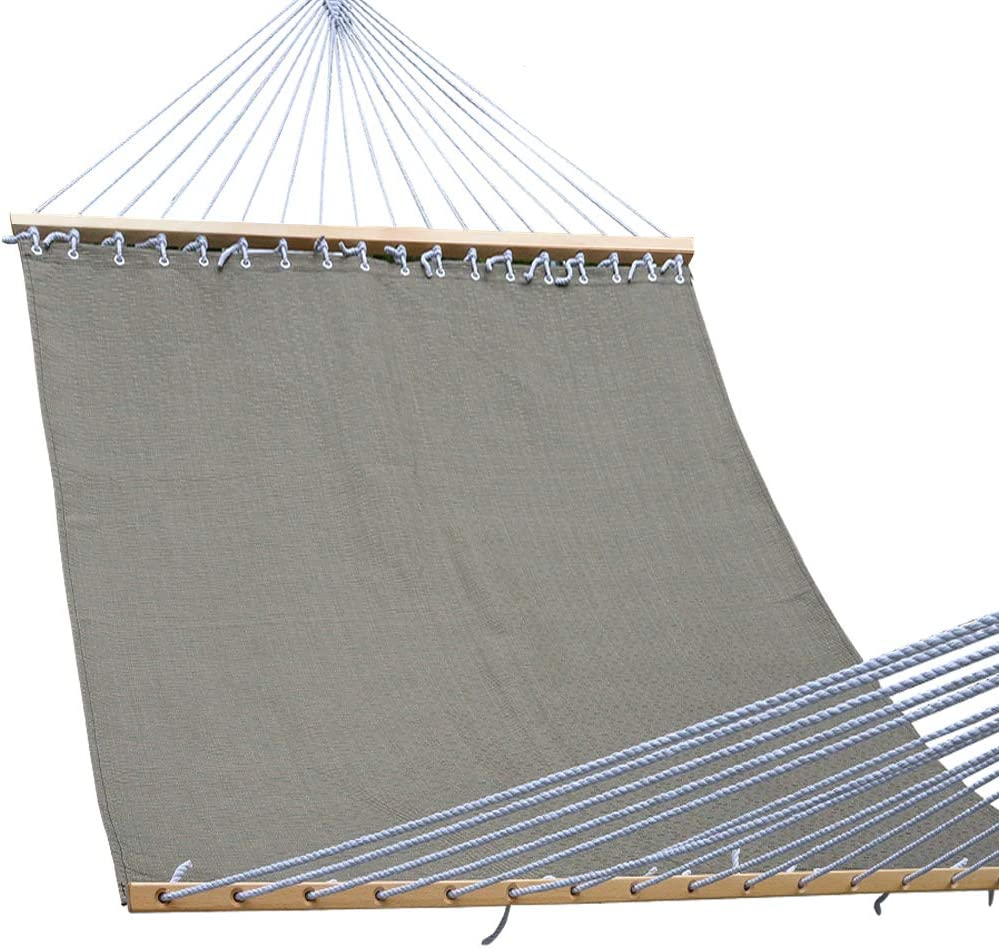Lazy Daze Hammocks 55inch Quick-Dry Hammock with Textliene Fabric and Hardwood Spreader Bar for Poolside Outdoor Coffee
