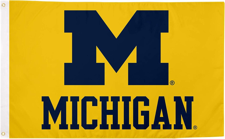 Desert Cactus University of Michigan Wolverines 100% Polyester Indoor Outdoor 3 feet x 5 feet Flag (Flag 4)