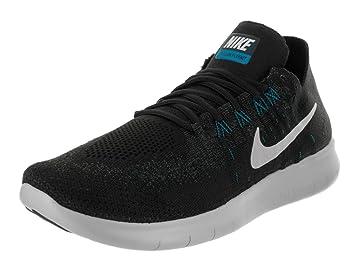 Nike Men s Free Rn flyknit 2017 Black Off White Anthracite Running Shoe 8  Men 878f28943