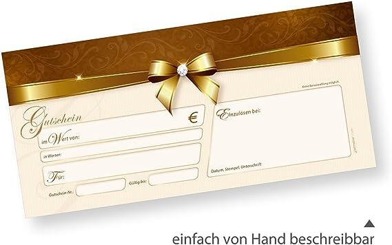 einfach Werte eintragen und stempeln 100 St/ück Gutschein-Karten TATMOTIVE PREMIUM Geschenk-Gutscheine Weihnachten f/ür Firmen Stardreams