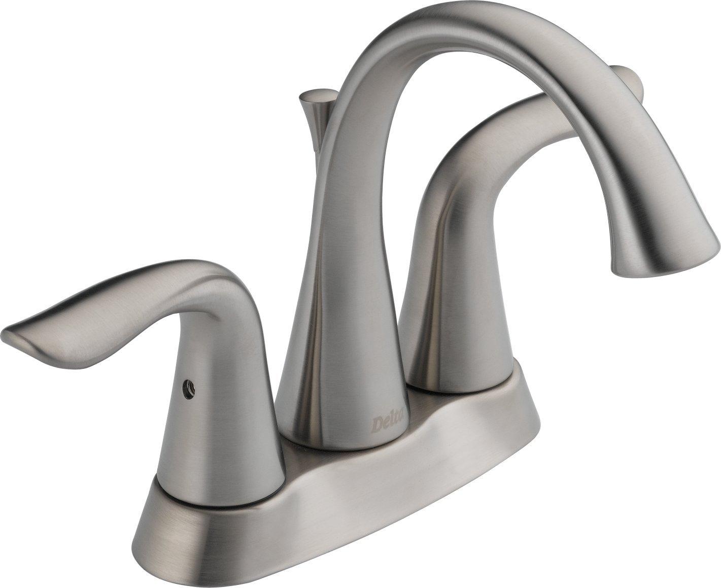 Delta 2538LF-SS Lahara Two Handle Centerset Bathroom Faucet ...
