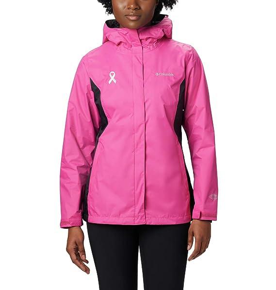 Columbia Mujeres probadas resistentes en chaqueta de lluvia ...