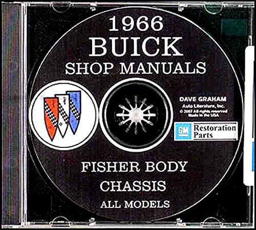 STEP-BY-STEP 1966 BUICK REPAIR SHOP & SERVICE MANUAL & FISHER BODY MANUAL CD INCLUDES Electra 225, Electra 225 Custom, Riviera, Special, Special Deluxe, Skylark, Gran Sport (GS), Sport Wagon, LeSabre, LeSabre Custom, Wildcat, Wildcat Custom ()