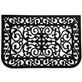 "Rubber-Cal""Liverpool"" Outdoor Cast Iron Door Mat, 18 by 30-Inch"