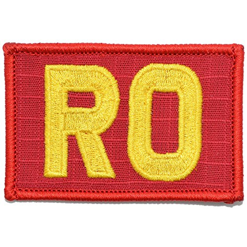 RO - Range Officer - 2x3 Morale Patch - (Red/Yellow)