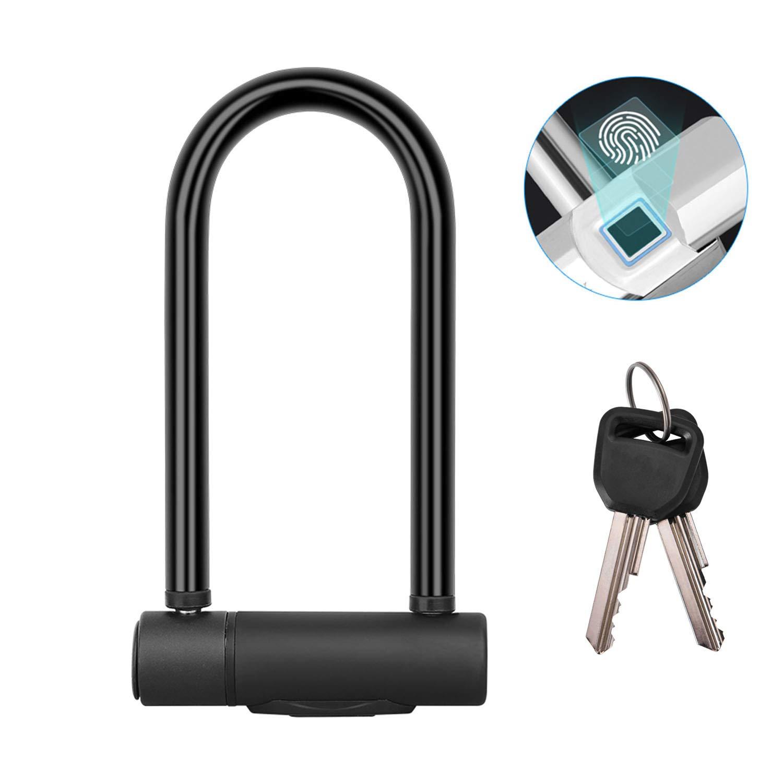 WSXX Smart Fingerprint Lock, U-Lock, Bicycle Lock Motorcycle Anti-Theft Lock, Charging Smart U-Shaped