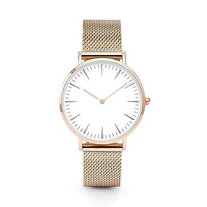 Reloj de acero inoxidable Hombres, KanLin1986 Reloj de pulsera para hombre, acero inoxidable Dial