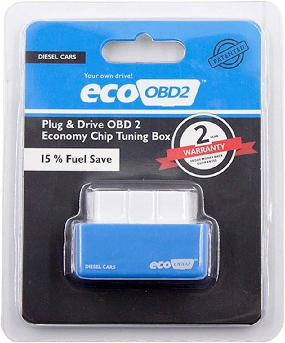 Ballylelly L/économiseur de puissance dessence de gaz de NITRO-OBD2 pour le v/éhicule de voiture r/éduisent l/économie de carburant de voiture d/émissions