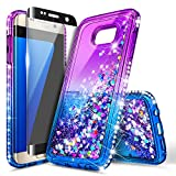 Galaxy S6 Edge Case with Screen Protector (Full Coverage 3D PET) for Girls