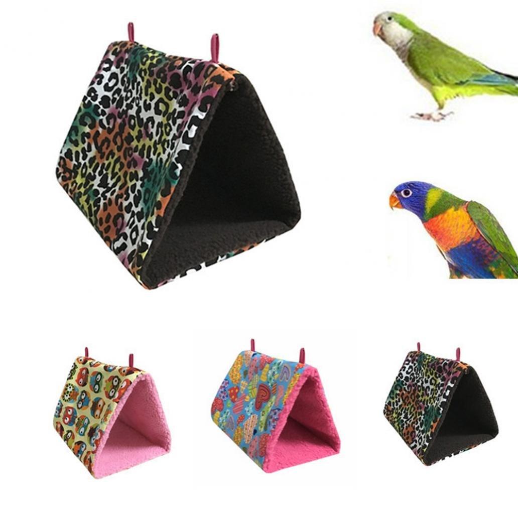 Colors of Rainbow Rainbow25 Bird Triangle Canvas Fleece Nest Box House Bed Room