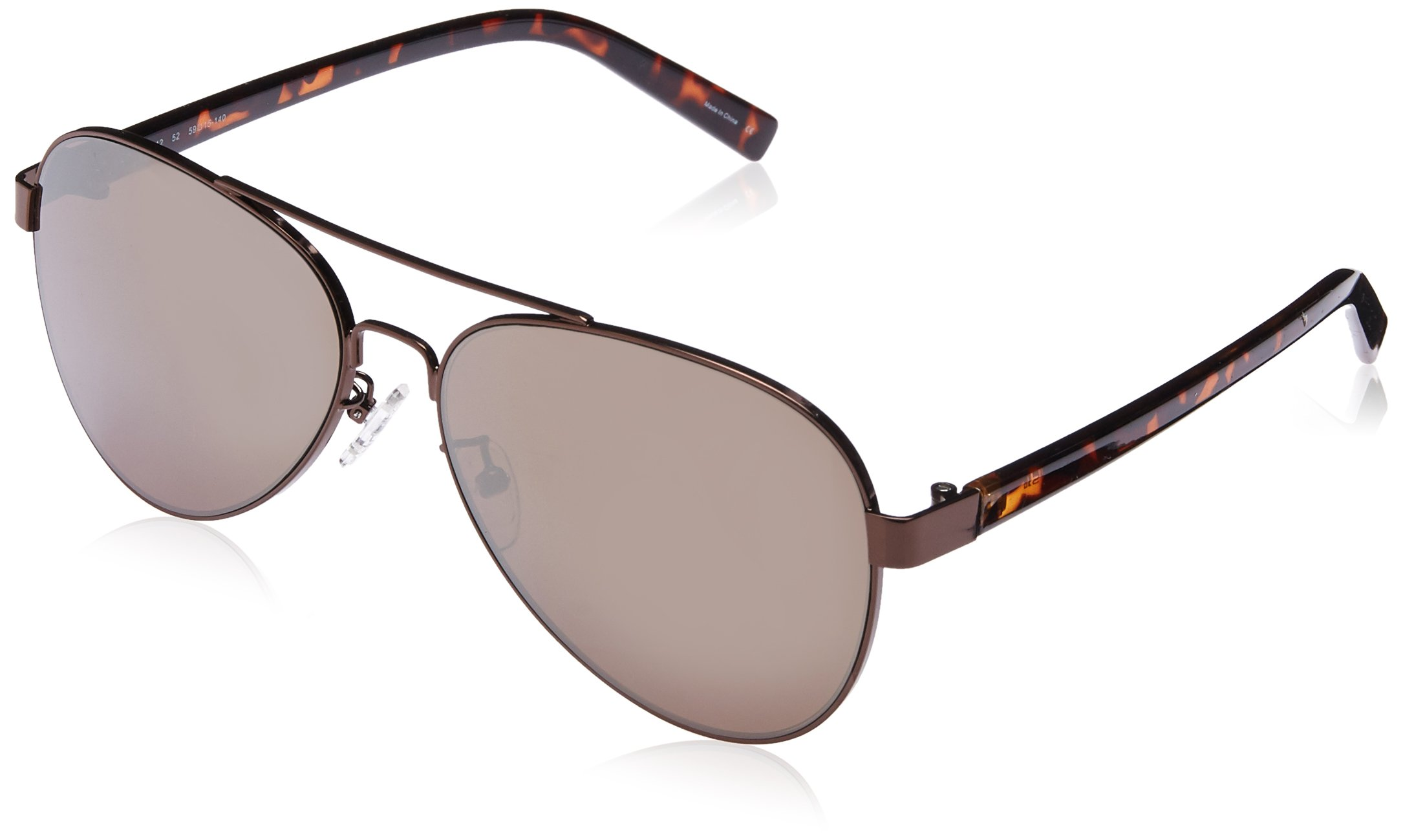 Joe's Jeans Women's JJ 1012 Aviator Fashion Designer UV Protection Sunglasses, Bronze Frame, 140 mm