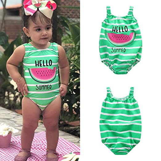 2b3ee9098aa EDTO Toddler Children Kids Baby Girls Bikini Set Beachwear Beach Swimsuits  Bathing Suits (18-