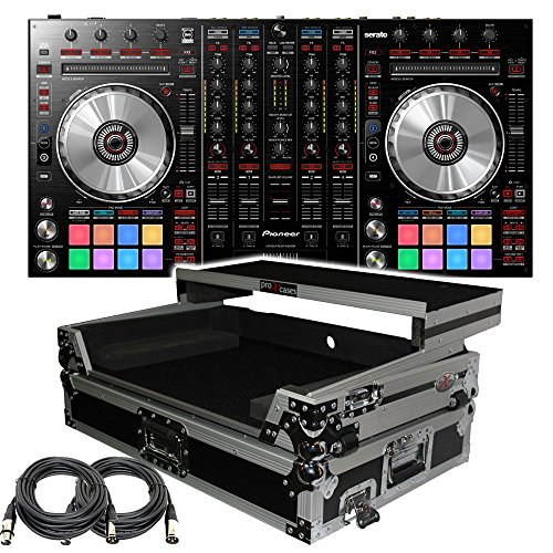 Control Pro Dj Software Controller - Pioneer Pro DJ DDJ-SX2 DJ Controller - Free ProX XS-DDJSX-WLT Case with laptop Shelf and XLR Cables, Software included