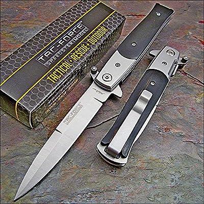 TAC Force Black Wood Tactical Pocket Knife NEW