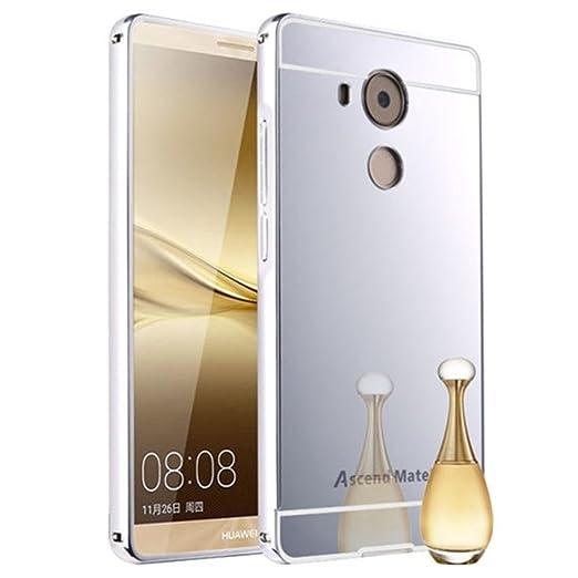5 opinioni per HUANGTAOLI Bumper di Metallo in Alluminio Custodia a Specchio Cover per Huawei