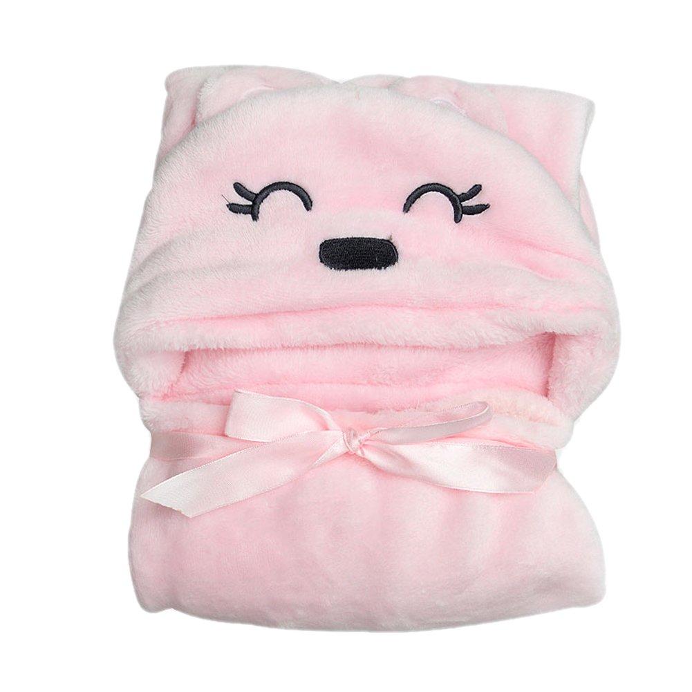 Everpert Soft cute Animal Cartoon bambini, asciugamano da bagno con cappuccio accappatoio neonato