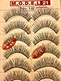 Express Lashes: Model 21 Strip Lashes, Style #18, 1 BOX = 50 PAIRS (5 Trays of 10 Pairs In A Box)