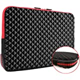 iCozzier 15-15.6 Inch Diamond Foam Laptop Sleeve with Coner Silicone Pad Shock&Water Resistant Carrying Cover Briefcase for Macbook Air/Pro/Retina(Update Version)